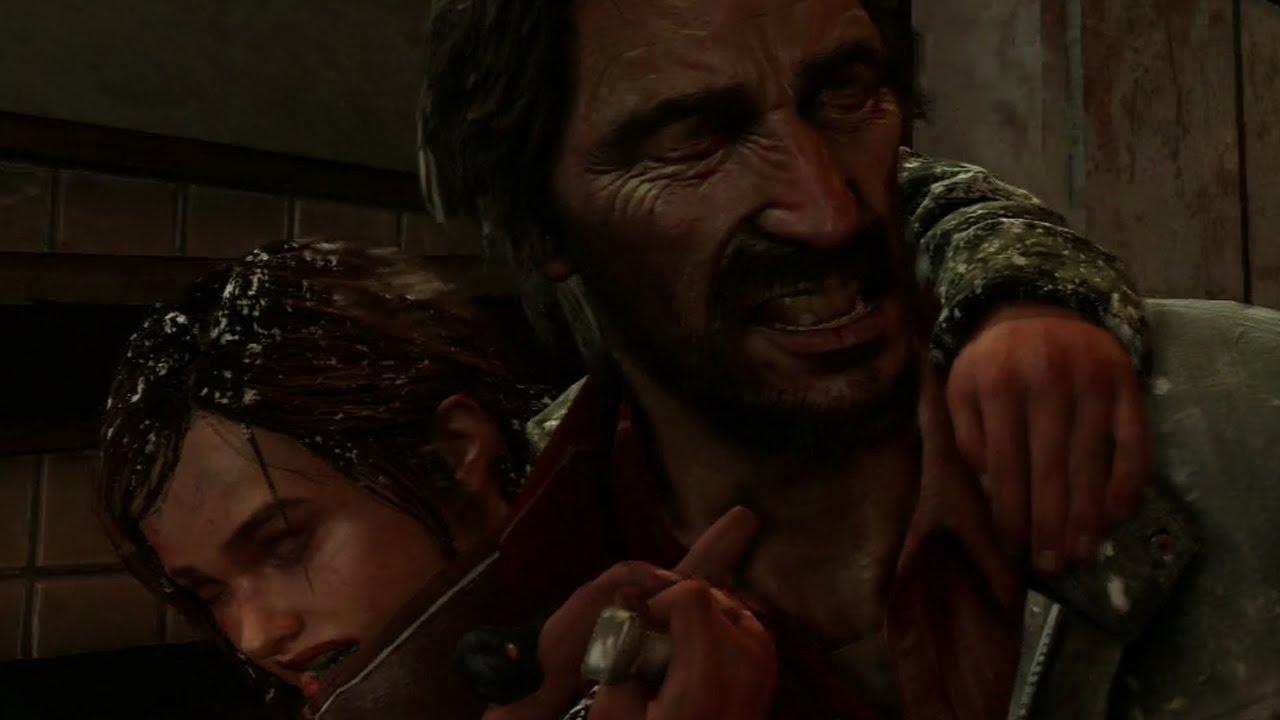 Ellie attacking David