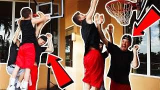 HANKDATANK vs D1 COLLEGE ATHLETE & COLETHEMAN IRL BASKETBALL