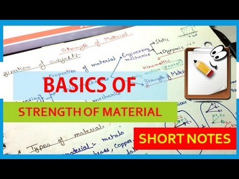Concept in Strength of Material Lecture 1