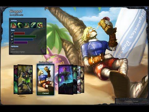 Surfer Singed Skin Spotlight Gameplay 1080p HD League Of Legends