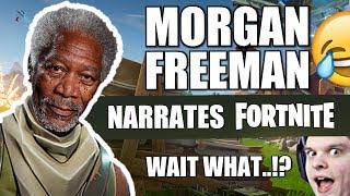 MORGAN FREEMAN NARRATES A SOLO SQUAD CLUTCH ON FORTNITE!!
