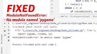 Modulenotfounderror: No Module Named 'pysimplegui'