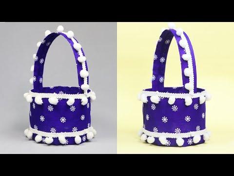 best-out-of-waste-water-bottle-craft---plastic-bottle-basket---easter-basket-ideas