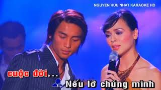 karaoke Nếu Chúng Mình Cách Trở _ song ca vói Thanh Trà ( thiếu giọng nam )