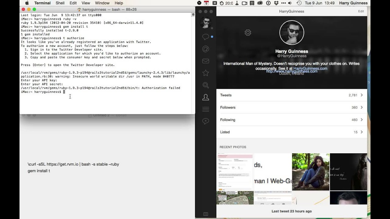 How to Tweet From Terminal on a Mac