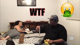USED CONDOM IN HUSBANDS FOOD PRANK (HE WENT OFF!!)
