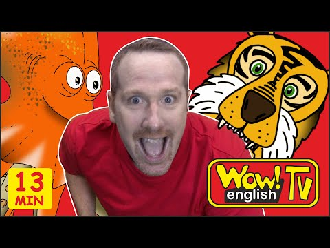 Funky Monkey Story For Kids From Steve And Maggie, Where Is The Ball | Learn Speaking Wow English TV
