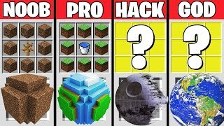 Minecraft Battle : PLANET CRAFTING CHALLENGE - NOOB vs PRO vs HACKER vs GOD - Minecraft Animation