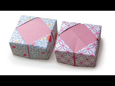 DIY Valentine gift box with star shaped lid. REALLY EASY Origami ... | 360x480