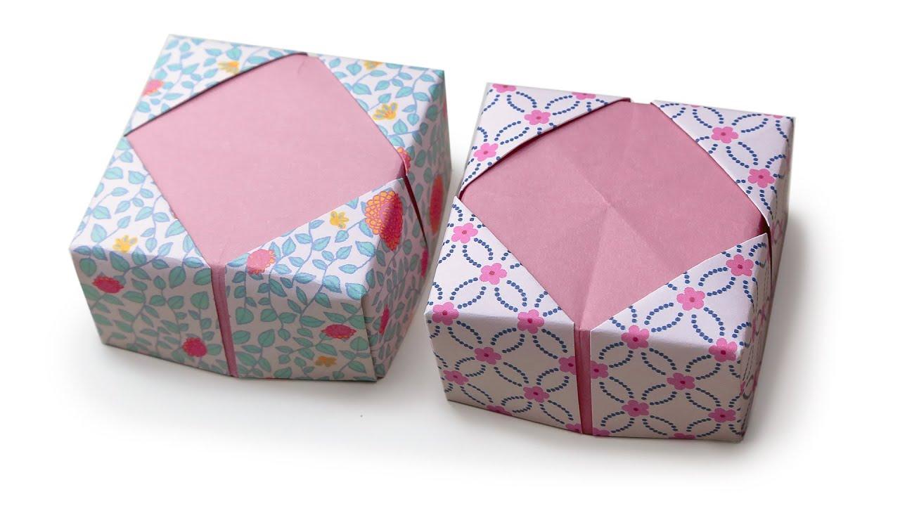 origami masu box lid variation v1 ��� tutorial ��� diy ���
