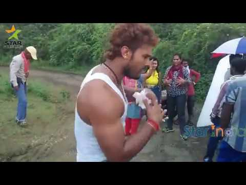 Khesari Lal Yadev Funny Dance & Songs From Movies shooting