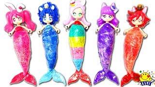 プリキュアアラモードがキラキラ人魚姫に変身❤︎アンパンマン おもちゃのねんどで手作り衣装♪まるでプリンセス⁉︎お姫様みたい❤︎Mermaid princess play doh たまごMammy