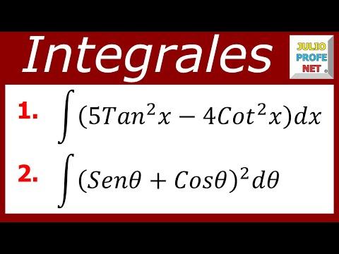 INTEGRALES TRIGONOMÉTRICAS - Ejercicios 5 y 6