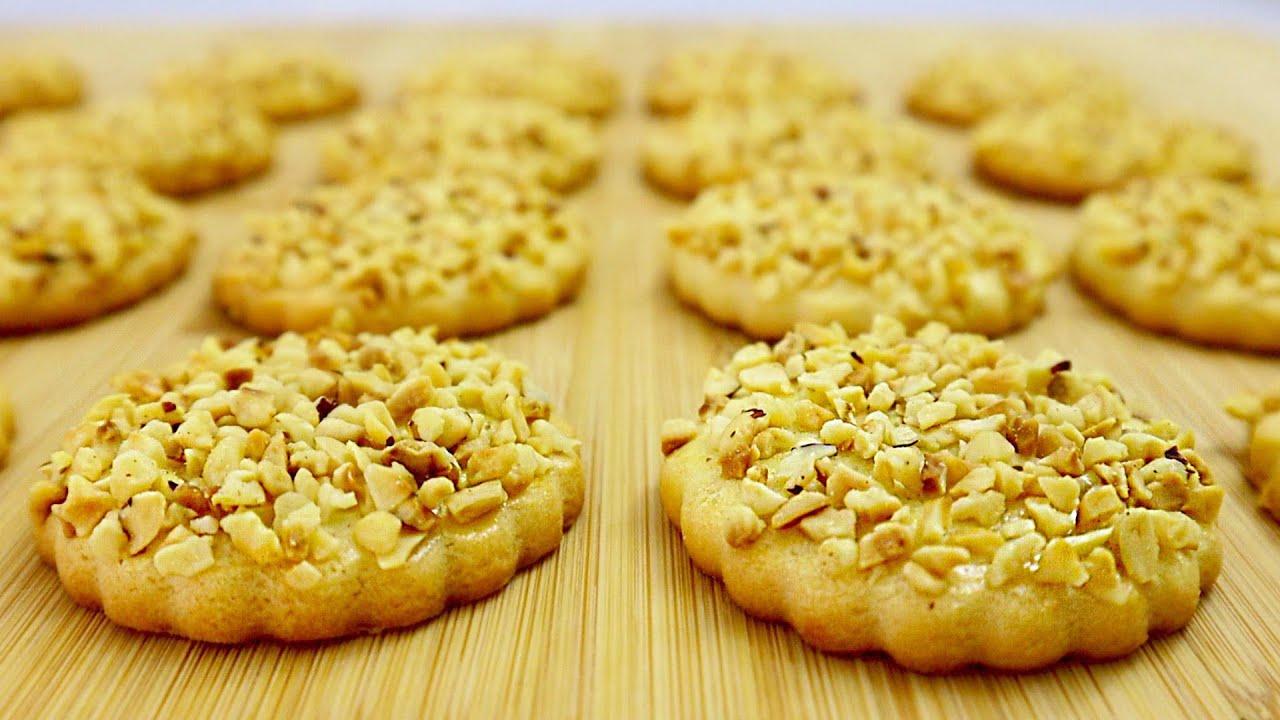 Больше не покупаю Печенье в магазине! Простой рецепт песочного печенья с орехами 🥜