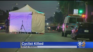 Bicyclist Killed In Boyle Heights Hit-And-Run Accident