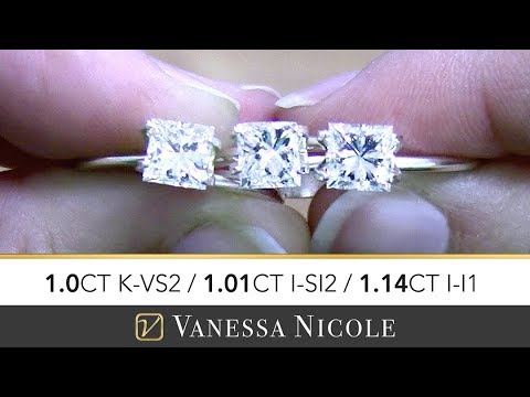 1ct Princess Cut Diamonds Engagement Ring