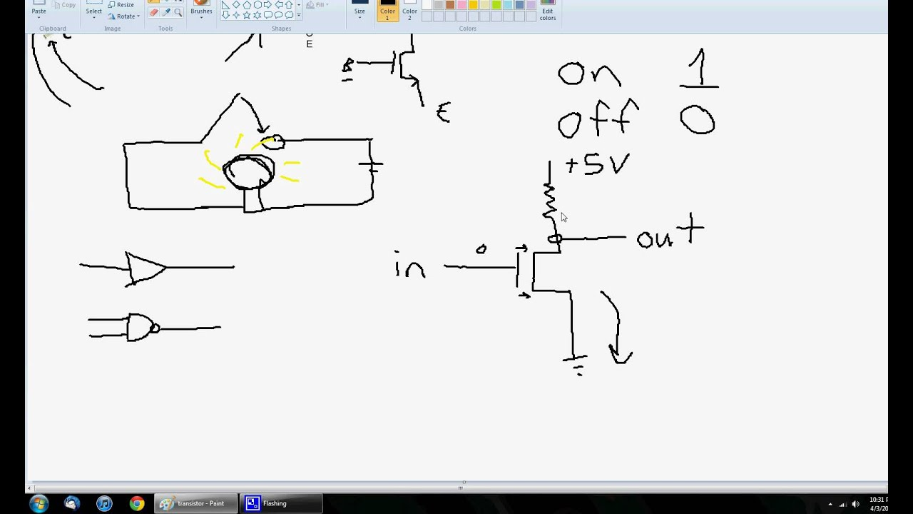 Transistors how to build a logic gate youtube pooptronica Image collections