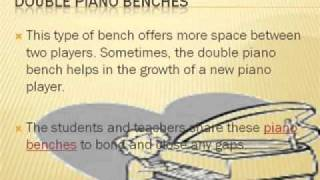 Piano Benches - An Educational Classification