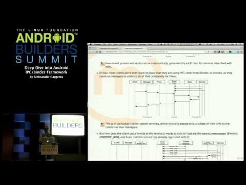 Android Builders Summit 2013 - Deep Dive into Android IPC/Binder Framework