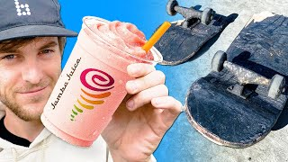 WE SOAKED A SKATEBOARD IN JAMBA JUICE FOR 24 HOURS!