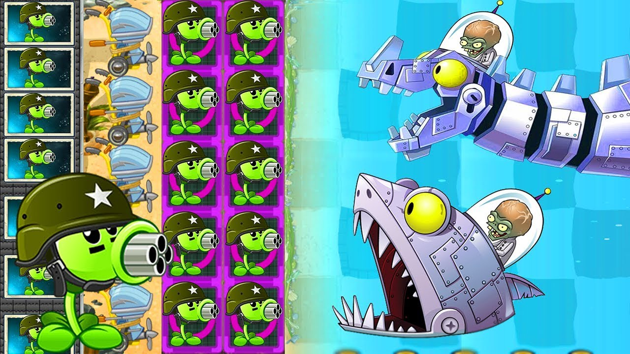 Plants vs Zombies 2 Mod: REPEATER MAX LEVEL POWER-UP vs ALL
