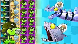 Plants vs Zombies 2 Mod: REPEATER MAX LEVEL POWER-UP vs ALL FINAL BOSS FIGHT!