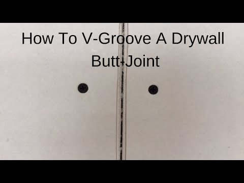 """How To """"V"""" Groove A Drywall Butt Joint."""