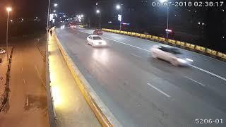 Карагандинцы портят подсветку путепровода на проспекте Бухар Жырау