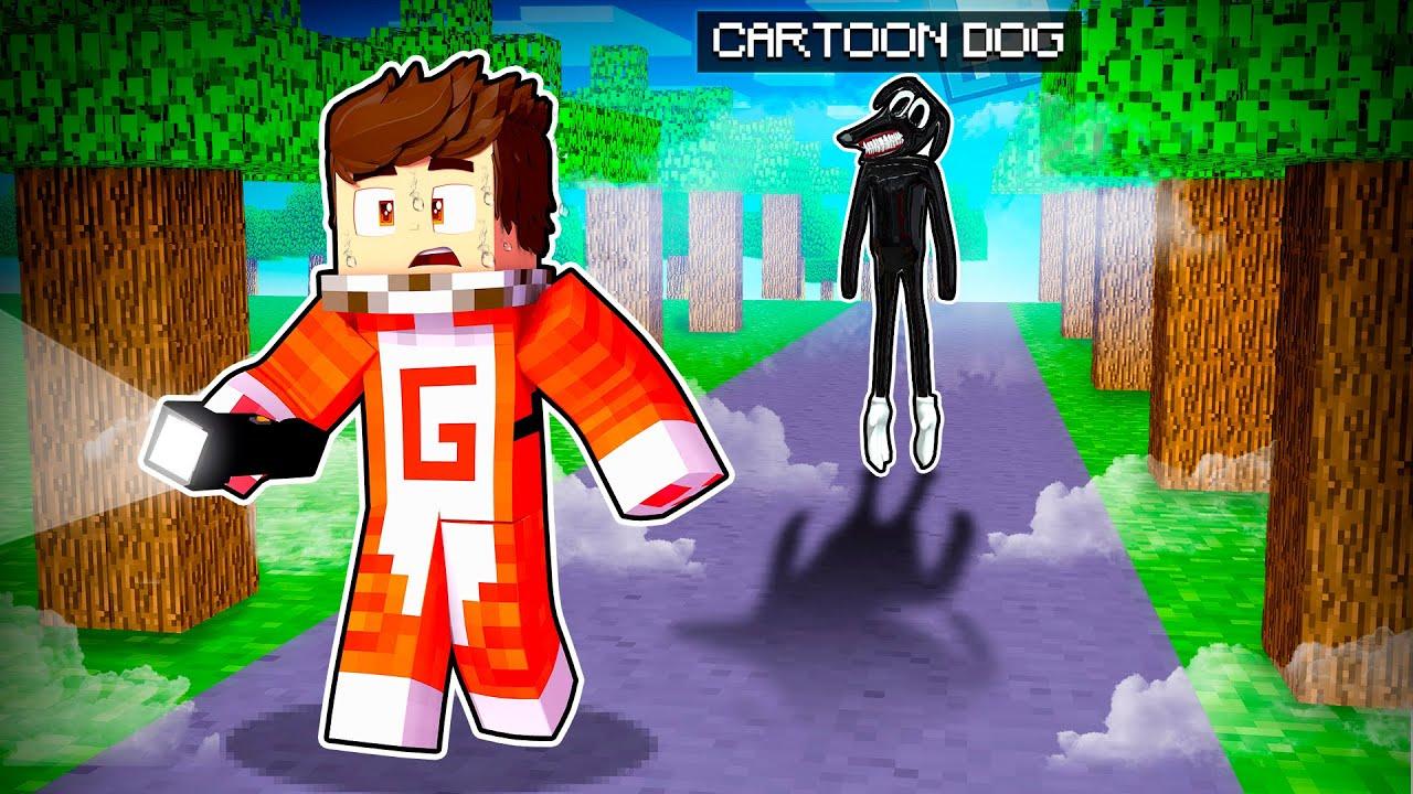 ¡1 NOCHE CON CARTOON DOG EN MINECRAFT! 😨 🔦 🐶 | SRGATO X FLOR ESCAPAN DE CARTOON DOG
