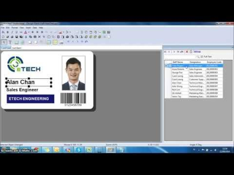 [How To] Database Linking - All ID PESONA Card Design Software