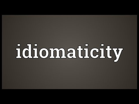 Header of idiomaticity