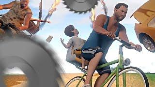 Z tatą na rowerze! To nie skończy się dobrze