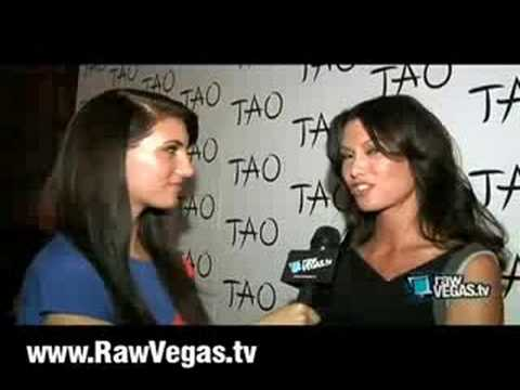 Sarah Larson Hosts Tao Nightclub At Venetian Hotel