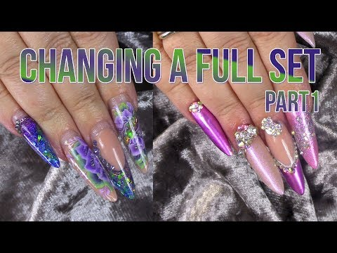 Full Look Infill and Re-Design - Part 1 - Gel Polish, Metallics and Bling!