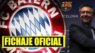 Bombazo: Nuevo fichaje del Bayern Munich   Crack del Barca renueva de por vida