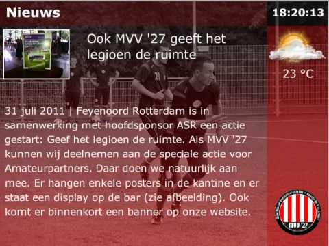 Voetbal Narrowcasting MVV