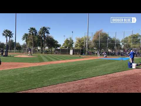 Dodgers Spring Training: Corey Seager tracks pitches against Kenley Jansen in Live BP