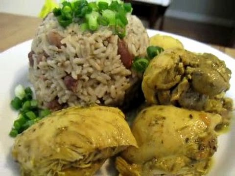 Chicken Curry w/ Rice and Peas - My Way