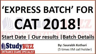 MBA/CAT preparation 2018 - 'Express' online batch from 11th May 2018