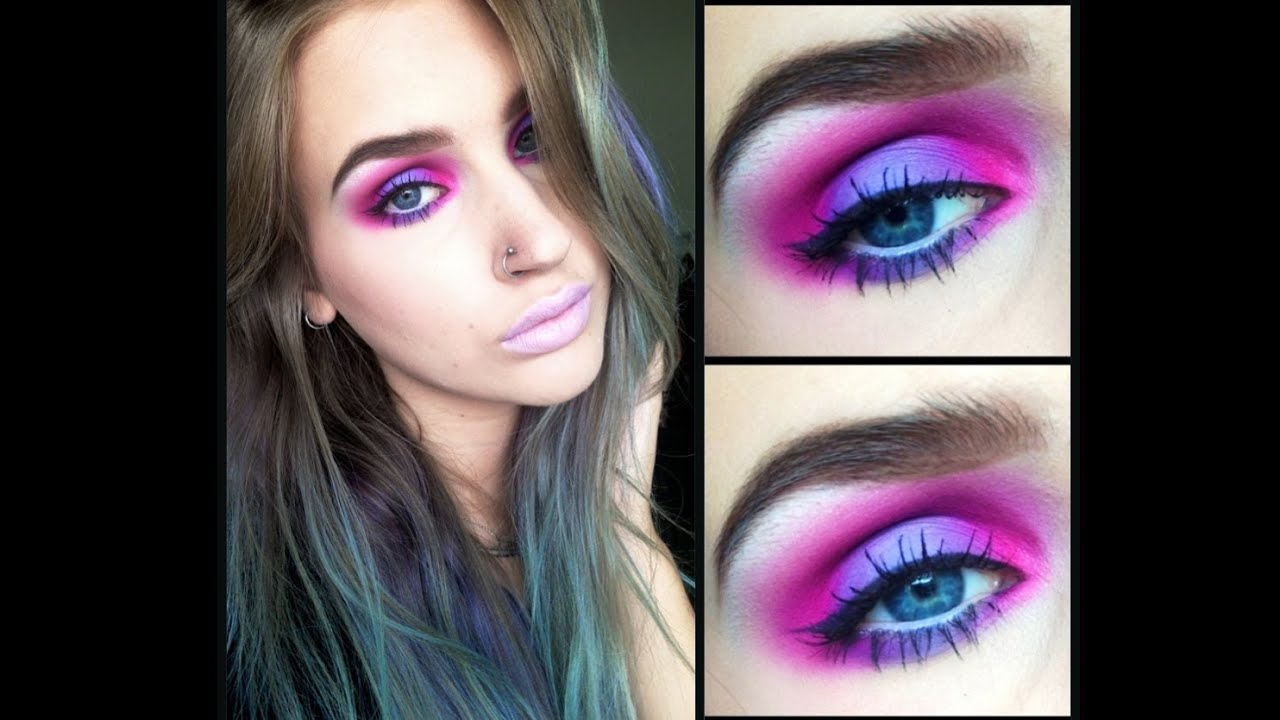 pink and purple my little pony eyes makeup tutorial youtube baditri Images