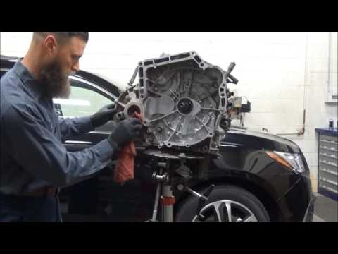 2005 Acura TSX 535,000 Miles Transmission Removal, Replace Torque Converter, Rear Main & Axle Seals