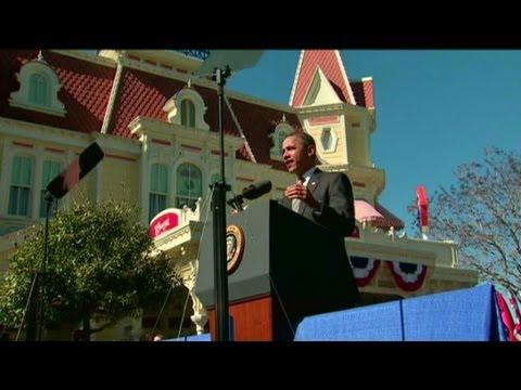 Obama touts tourism plan at Disney