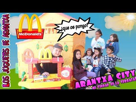 McDonalds en mi ciudad ARANTXA CITY y con mi nuevo Ferrari�