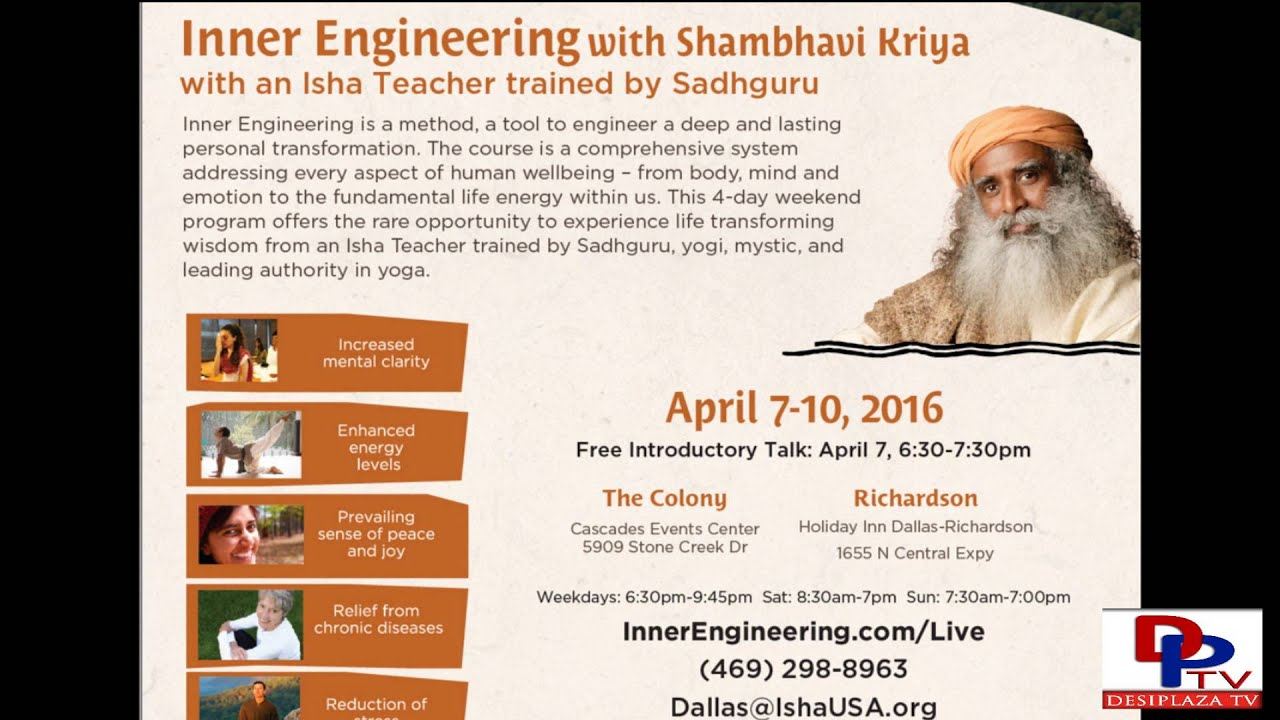 Inner Engineering workshop by Isha Foundation
