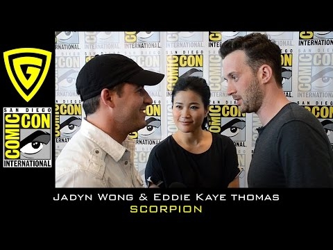 Jadyn Wong and Eddie Kaye Thomas   Scorpion  SDCC 2016