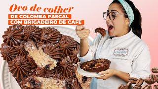 Receita - Ovo de Colher de Colomba Pascal com Brigadeiro de Café
