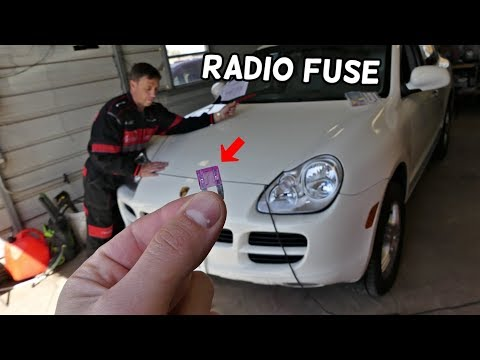 PORSCHE CAYENNE RADIO FUSE LOCATION REPLACEMENT. CD CHANGER FUSE LOCATION