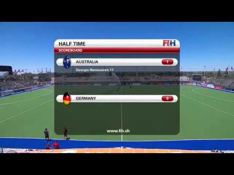 Australia vs Germany   Women's Hockey Champions Trophy 2014 Argentina Group B 2 12 2014