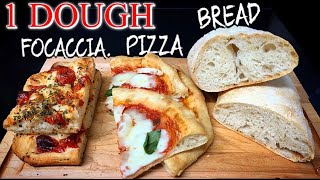How to Make 1 Dough Perfect for PIZZA / FOCACCIA / BREAD