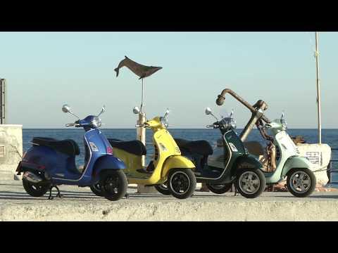 Scootering Magazine - Piaggio GTS HPE Vespa Test Ride Italy - Feb